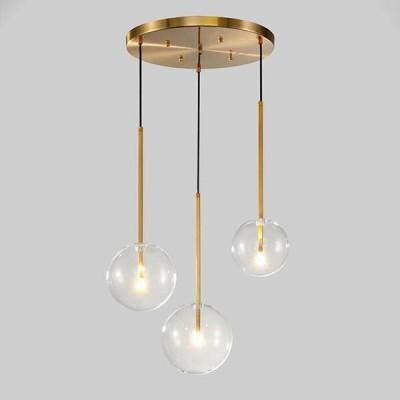 Lampa wisząca ze szklanymi kulami